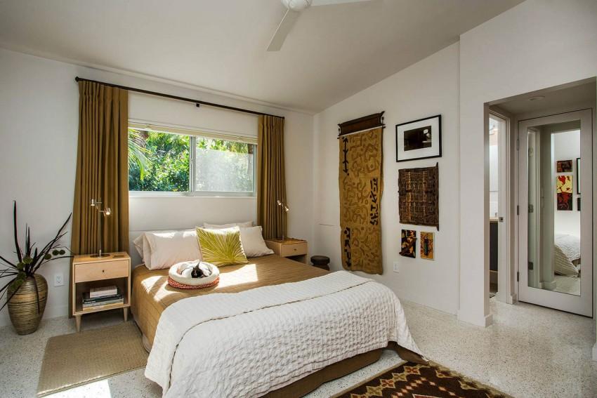 Спальня в  цветах:   Бежевый, Светло-серый, Серый, Темно-зеленый.  Спальня в  стиле:   Минимализм.