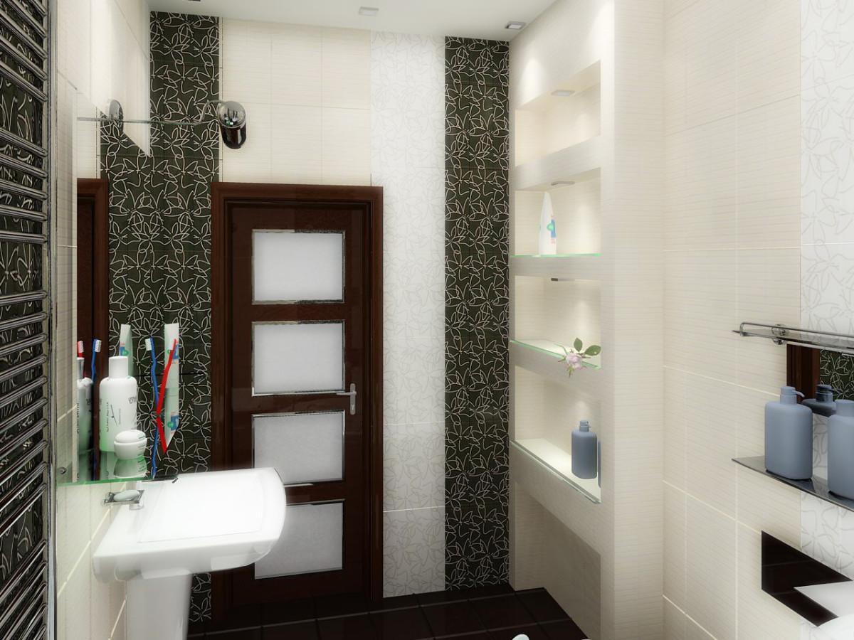Ванная в  цветах:   Белый, Светло-серый, Темно-коричневый, Черный.  Ванная в  стиле:   Минимализм.