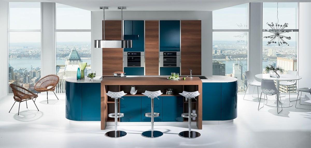30 модных синих кухонь