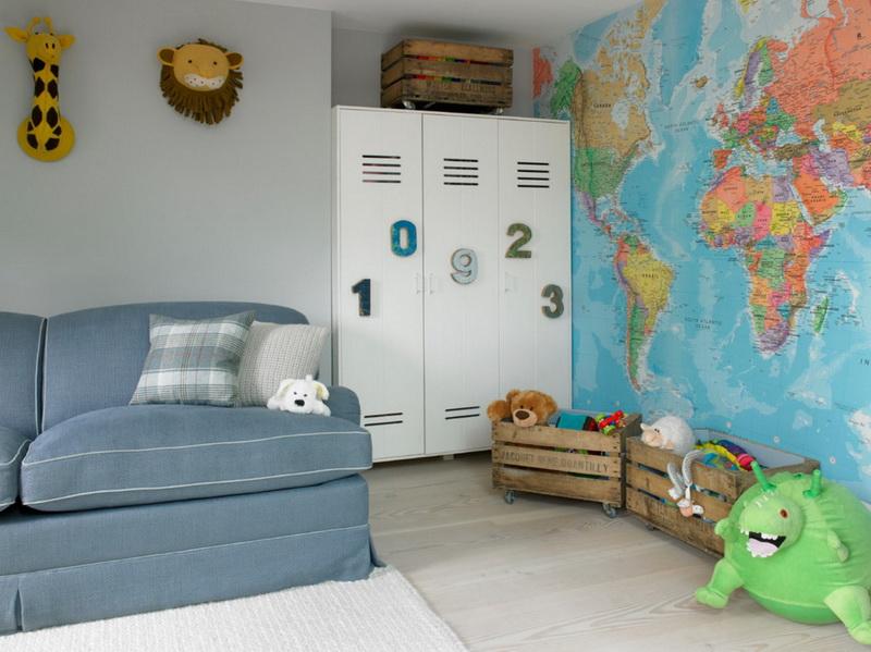 Гостиная в  цветах:   Бежевый, Светло-серый, Серый, Синий.  Гостиная в  стиле:   Эклектика.