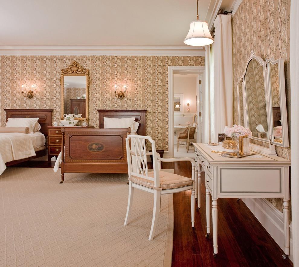 Спальня в  цветах:   Бежевый, Светло-серый, Темно-коричневый, Черный.  Спальня в  стиле:   Классика.