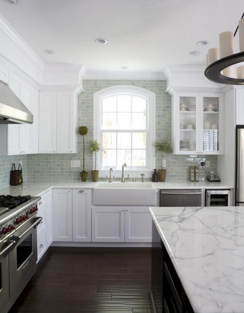 Кухня/столовая в  цветах:   Белый, Светло-серый, Темно-коричневый, Черный.  Кухня/столовая в  стиле:   Минимализм.