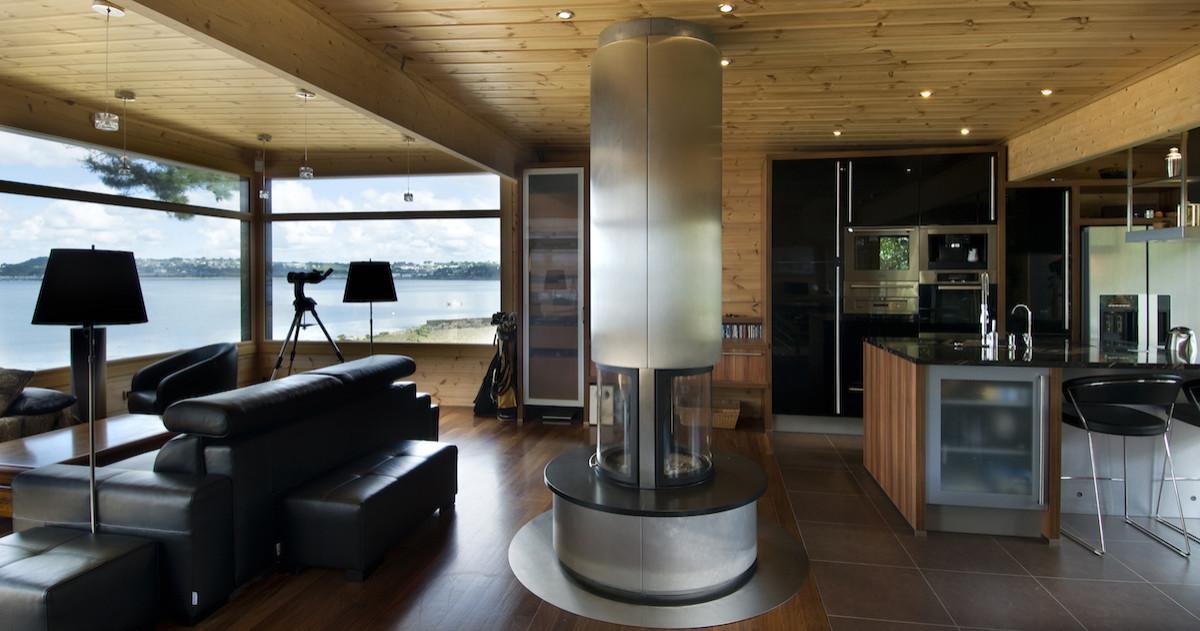Стильный деревянный дом по финскому проекту
