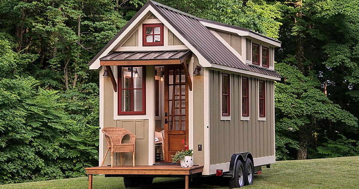 Уютный дом площадью 14 метров: дача, которую можно взять с собой