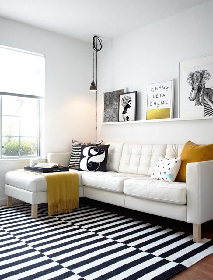 Гостиная в  цветах:   Белый, Коричневый, Серый, Черный.  Гостиная в  стиле:   Минимализм.