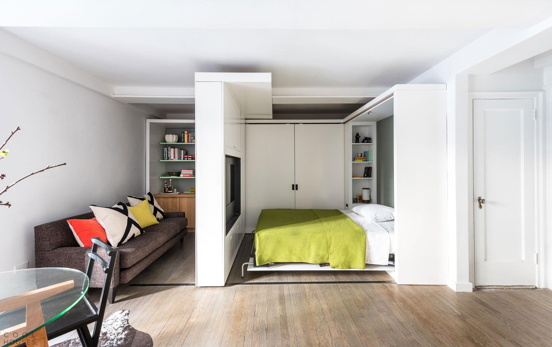 Дизайн маленькой квартиры-трансформера от mkca.