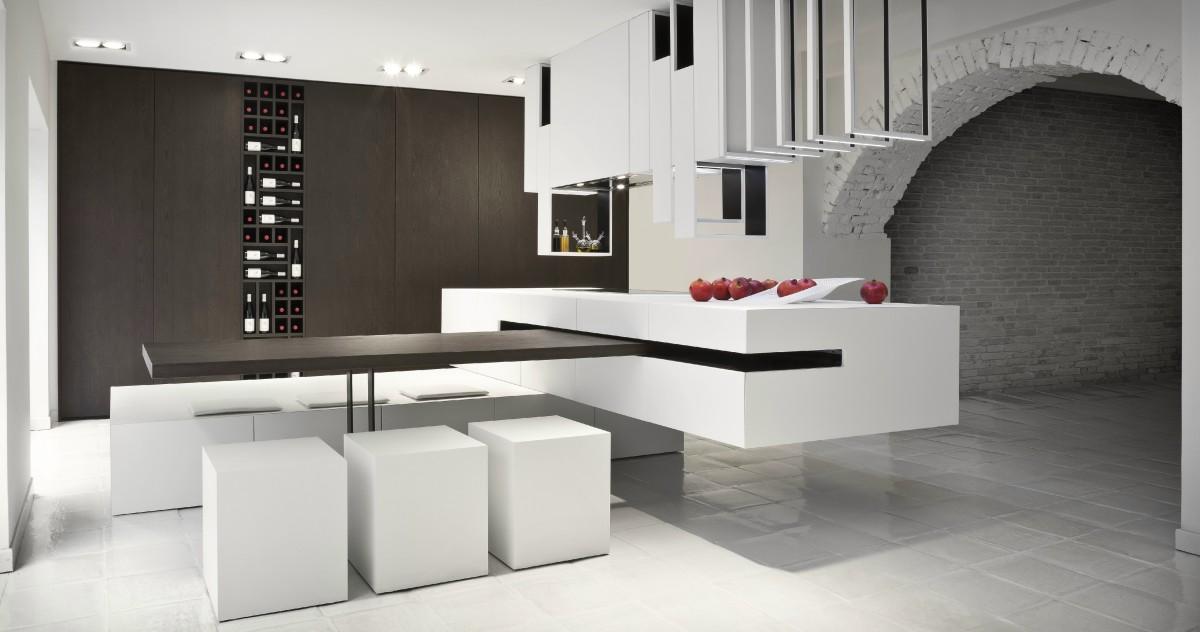 Как сэкономить место на кухне: 18 интерьеров со столами-трансформерами