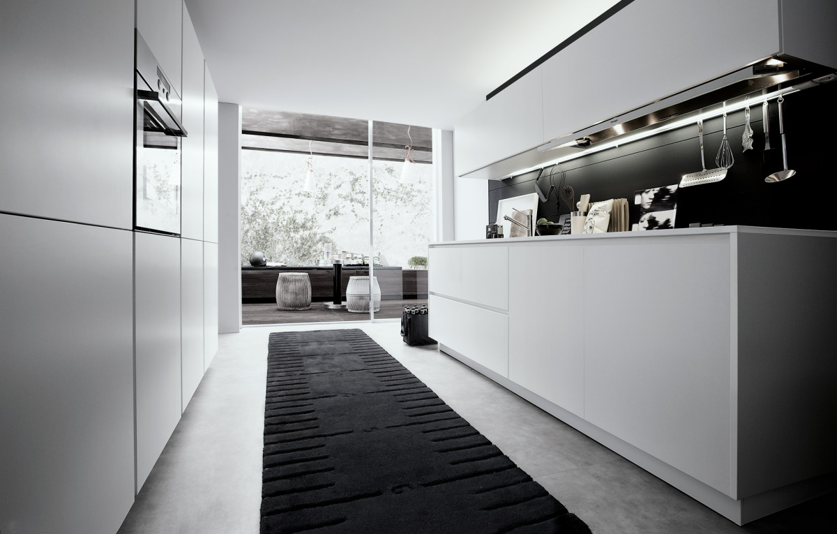30 кухонь в чёрно-белом цвете: классика на все века