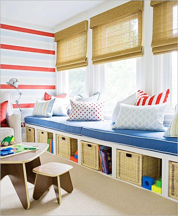 Детская в цветах: желтый, голубой, бирюзовый, светло-серый, белый. Детская в .