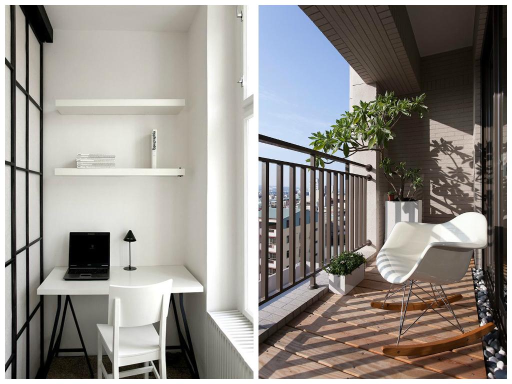 Балкон, веранда, патио в цветах: светло-серый, белый, коричневый, бежевый. Балкон, веранда, патио в стиле минимализм.