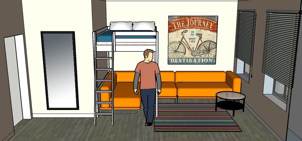 Что делать с узкой комнатой: пример и советы от архитектора Надежды Каппер