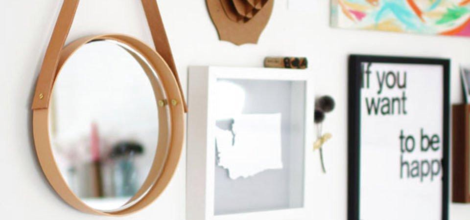 Стильное зеркало, которое может сделать даже ребёнок. Мастер-класс