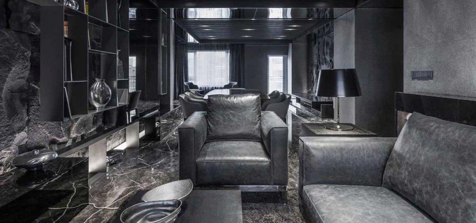Чёрный в интерьере: ультрасовременная резиденция из Тайваня
