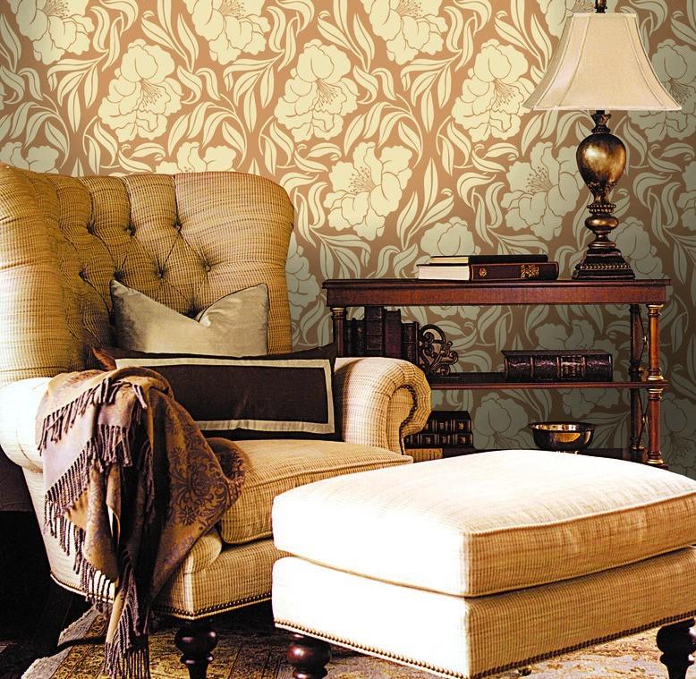 Гостиная, холл в цветах: желтый, темно-коричневый, коричневый, бежевый. Гостиная, холл в стиле классика.