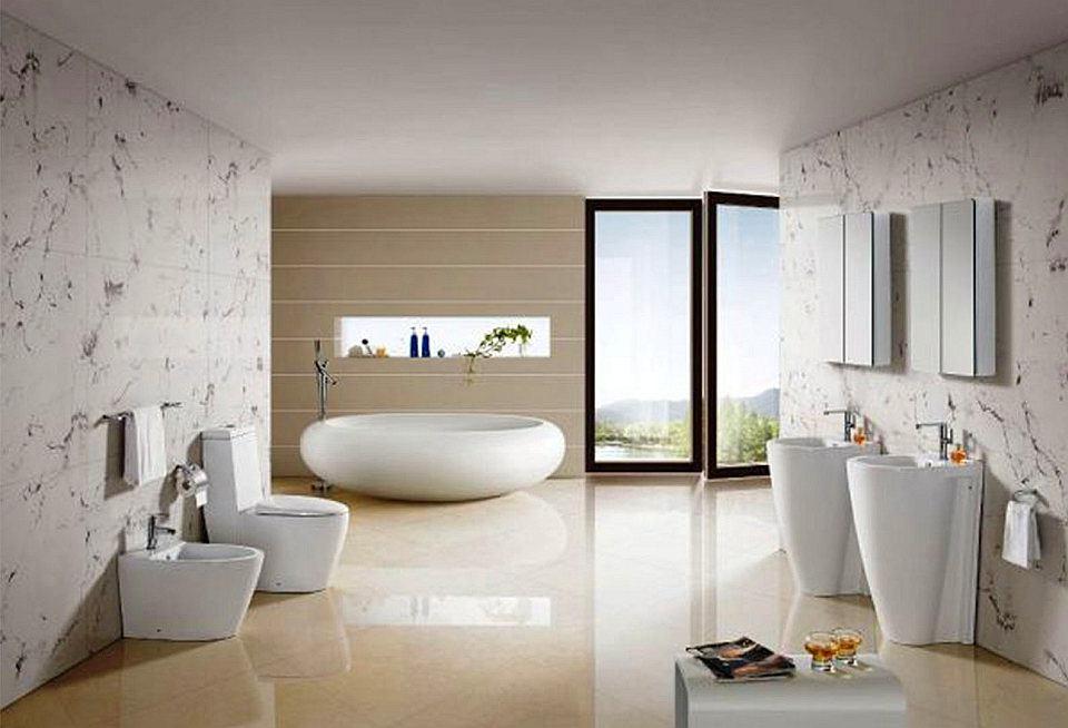 Туалет в цветах: серый, светло-серый, белый, бежевый. Туалет в стиле минимализм.