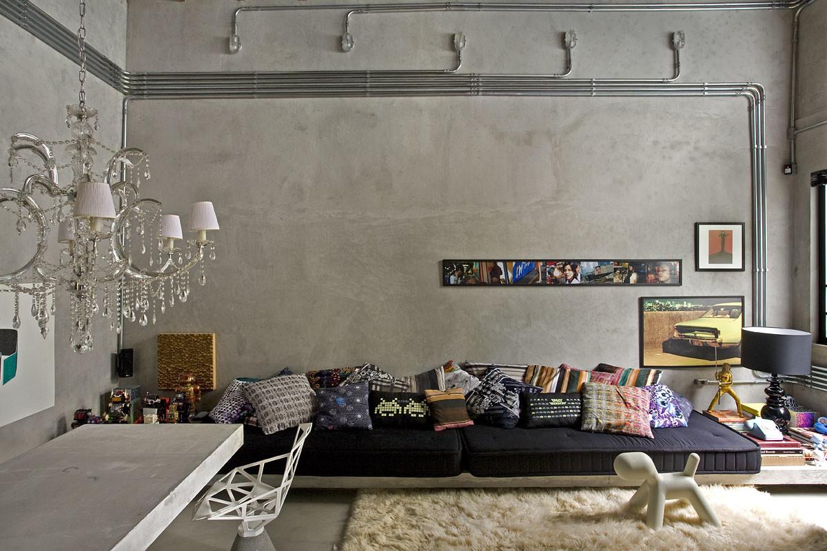 Гостиная, холл в цветах: черный, серый, светло-серый, бежевый. Гостиная, холл в стиле эклектика.