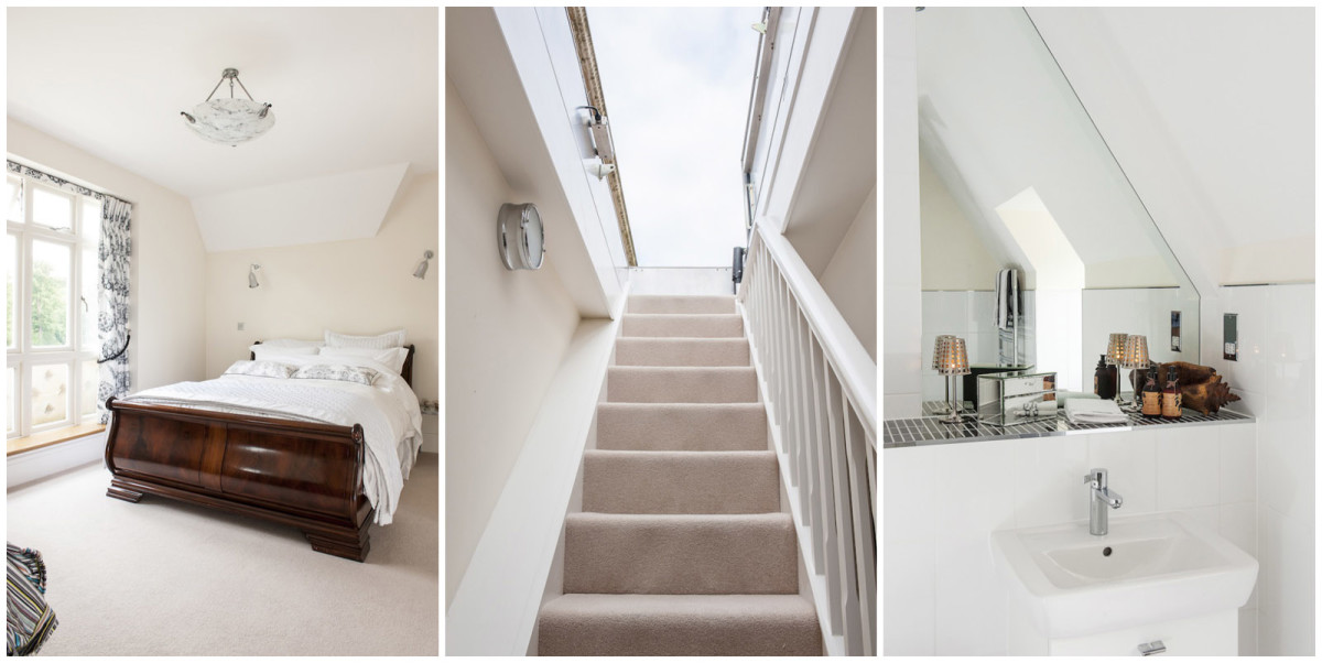 Лестница в цветах: светло-серый, белый, темно-коричневый, коричневый, бежевый. Лестница в стиле минимализм.