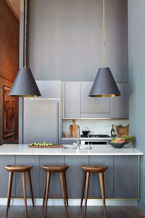 Кухня в цветах: бирюзовый, серый, светло-серый, коричневый. Кухня в .