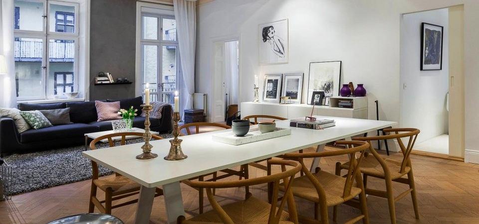 Как просто и эффектно спланировать квартиру-студию: пример из Стокгольма