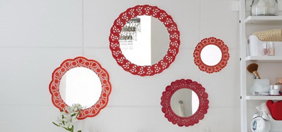 Кружева вы мои, кружева! Декоративный коллаж из зеркал для ванной: мастер-класс