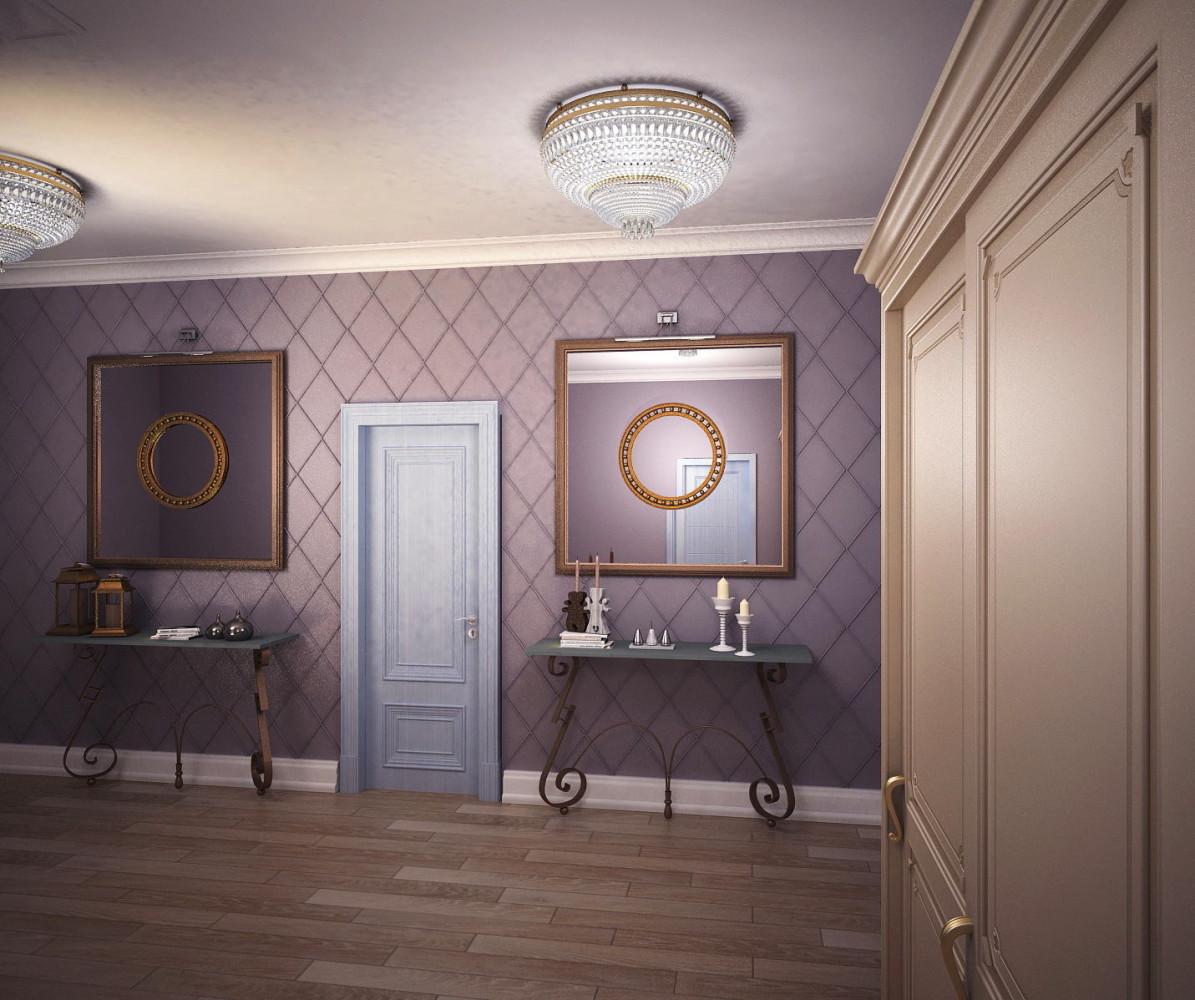 Мебель и предметы интерьера в цветах: светло-серый, сиреневый, коричневый, бежевый. Мебель и предметы интерьера в стиле неоклассика.