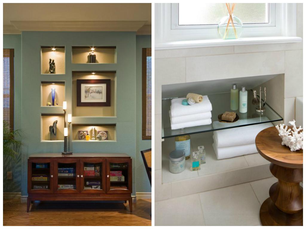 Декор в цветах: голубой, светло-серый, бежевый. Декор в стиле минимализм.