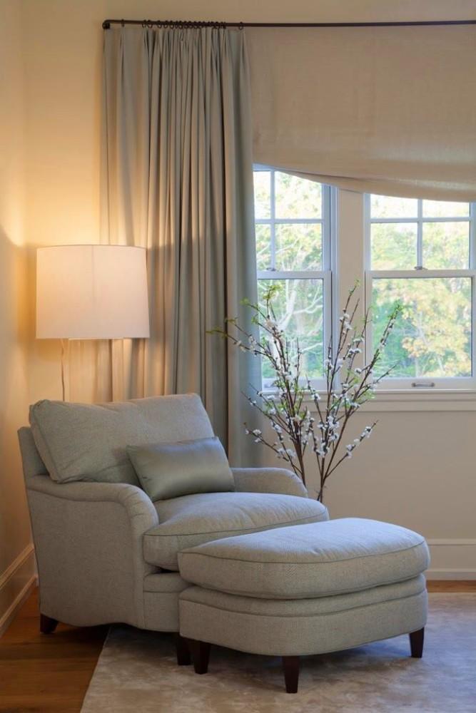 Спальня в цветах: голубой, серый, светло-серый, бежевый. Спальня в стилях: классика, американский стиль.