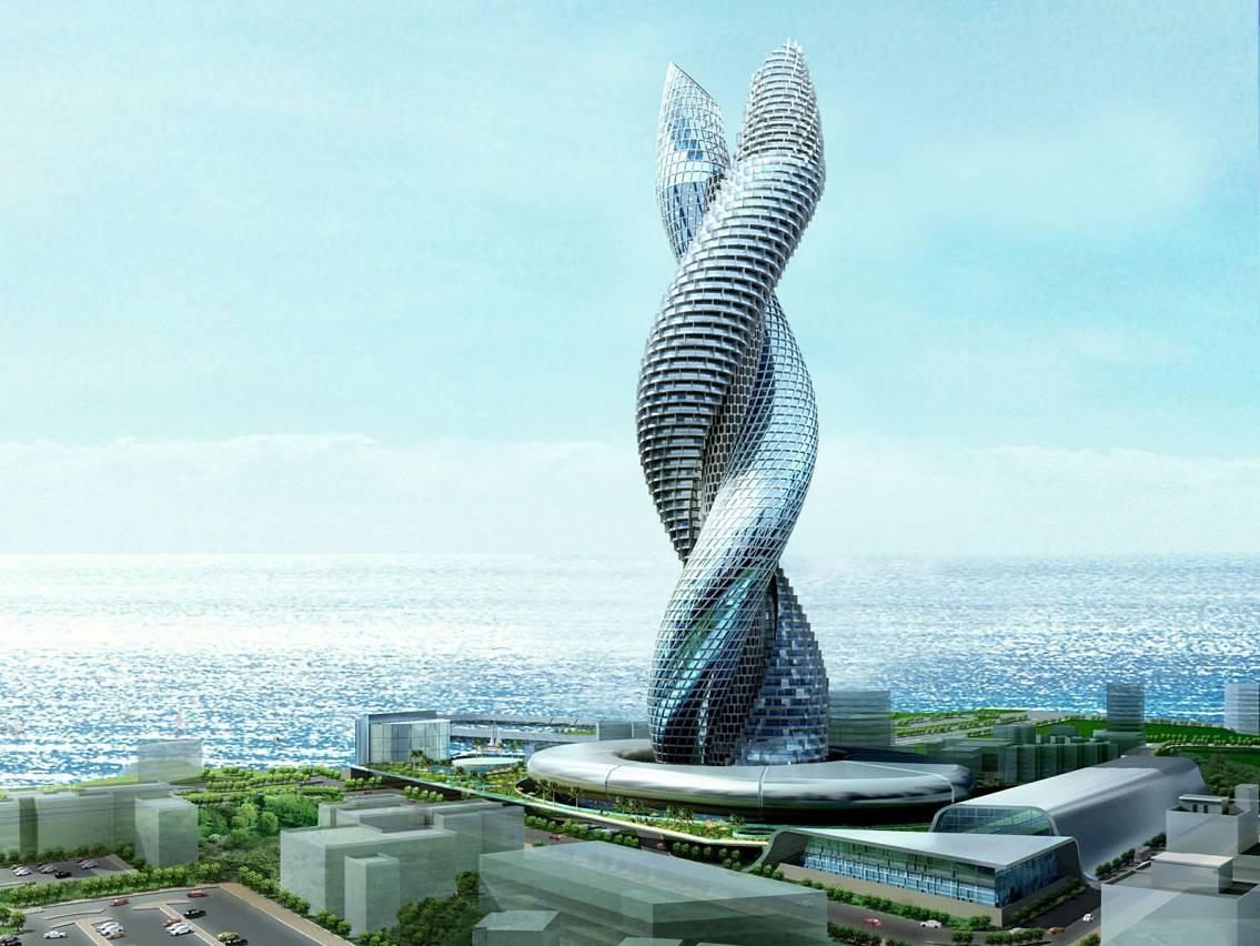 Архитектура в цветах: бирюзовый, серый, белый, сине-зеленый. Архитектура в .