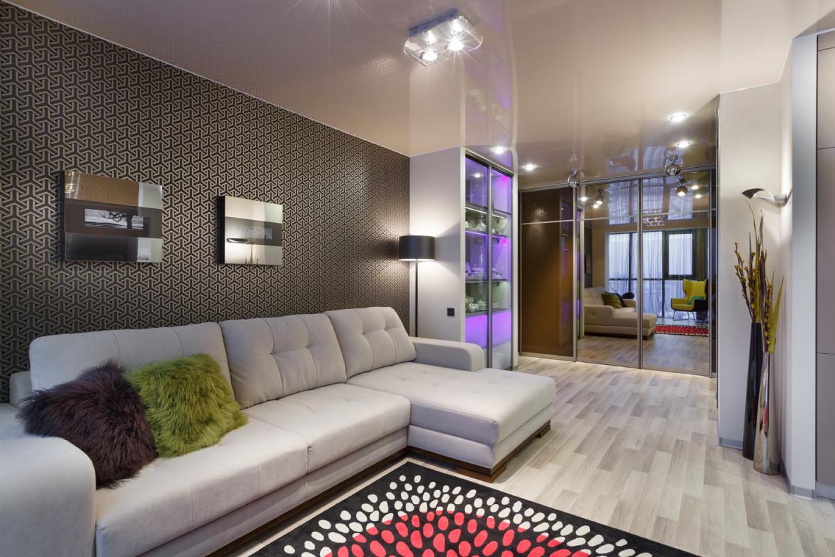 Гостиная, холл в цветах: серый, светло-серый, сиреневый, коричневый, бежевый. Гостиная, холл в стилях: скандинавский стиль.