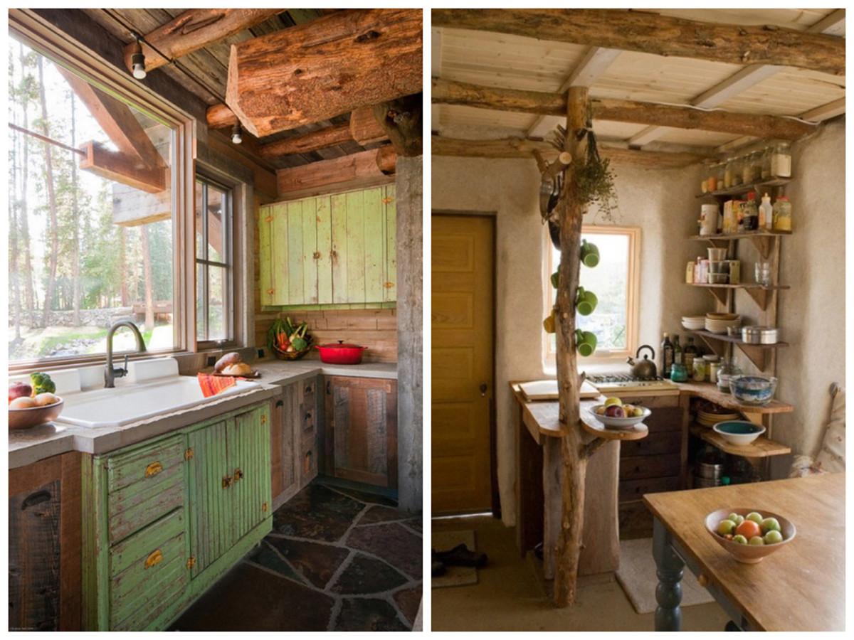 Кухня в цветах: серый, темно-зеленый, коричневый, бежевый. Кухня в стилях: прованс, кантри.