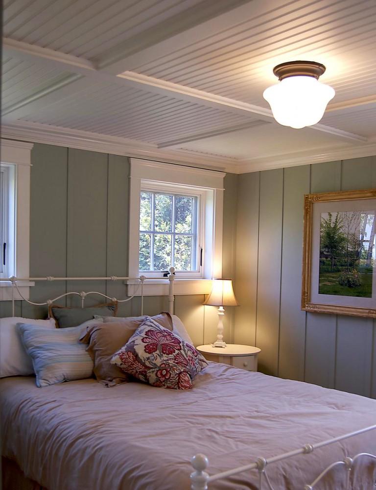 Спальня в цветах: серый, светло-серый, коричневый, бежевый. Спальня в .