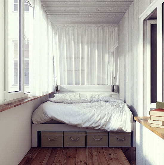 Можно ли устроить спальню на балконе: за и против