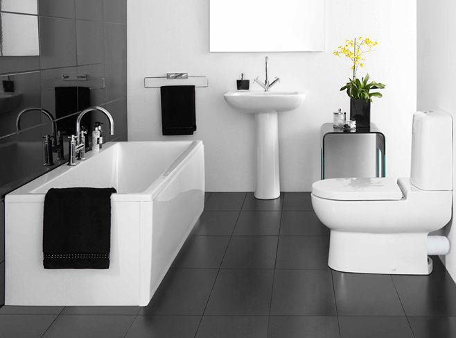 Мебель и предметы интерьера в цветах: черный, серый, белый. Мебель и предметы интерьера в .