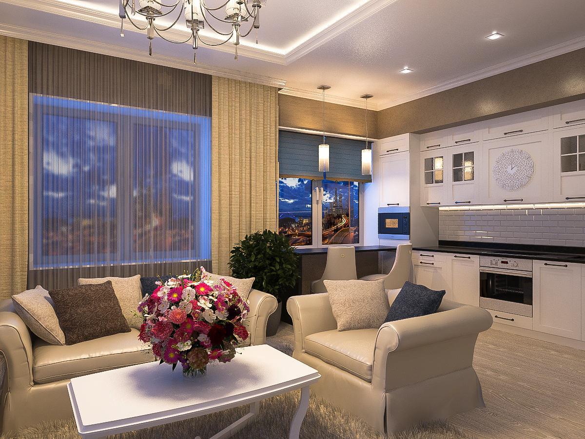 Гостиная, холл в цветах: фиолетовый, серый, светло-серый, бежевый. Гостиная, холл в стиле классика.