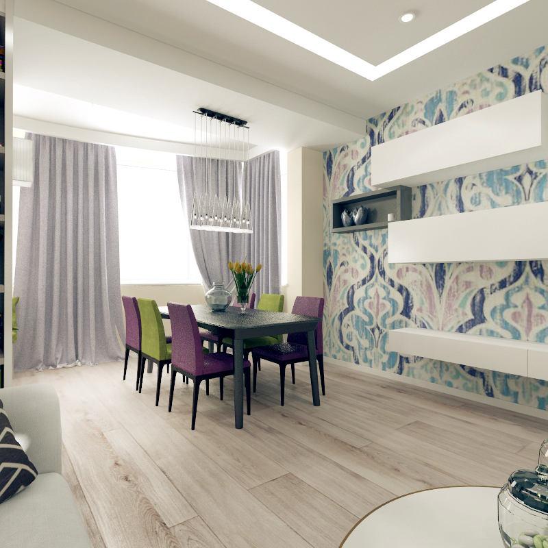 Мебель и предметы интерьера в цветах: черный, светло-серый, белый, салатовый, сиреневый. Мебель и предметы интерьера в стиле минимализм.