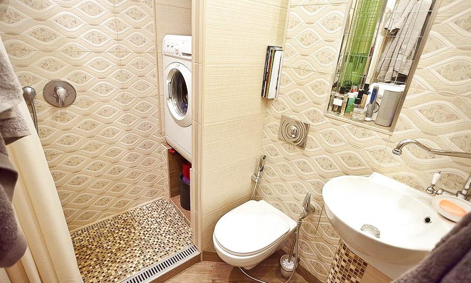 фото дизайна ванной комнаты совмещенной с туалетом в хрущевке