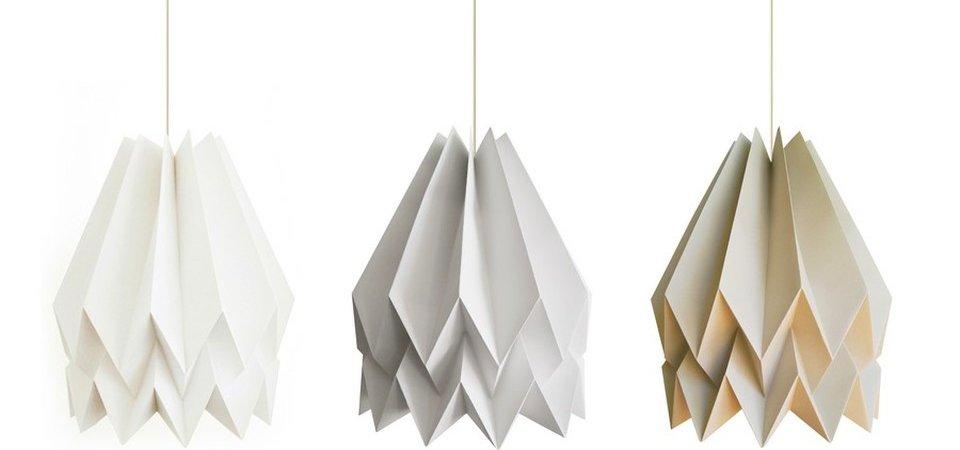 Декор в стиле оригами: светильники из бумаги от студии Blaanc Borderless Architecture