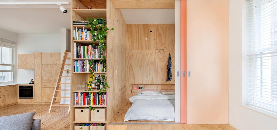 26-метровая квартира из фанеры, которая вызывает любовь к малогабариткам