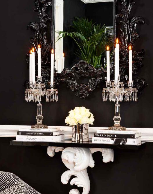 Мебель и предметы интерьера в цветах: черный, белый. Мебель и предметы интерьера в стилях: арт-деко.