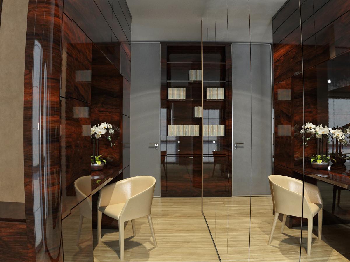 Мебель и предметы интерьера в цветах: серый, темно-коричневый, коричневый, бежевый. Мебель и предметы интерьера в стилях: минимализм.
