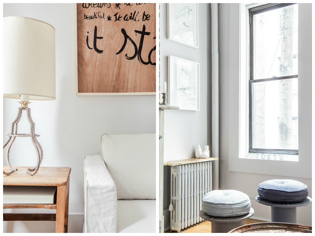 Мебель и предметы интерьера в цветах: серый, светло-серый, бежевый. Мебель и предметы интерьера в стилях: лофт, эклектика.
