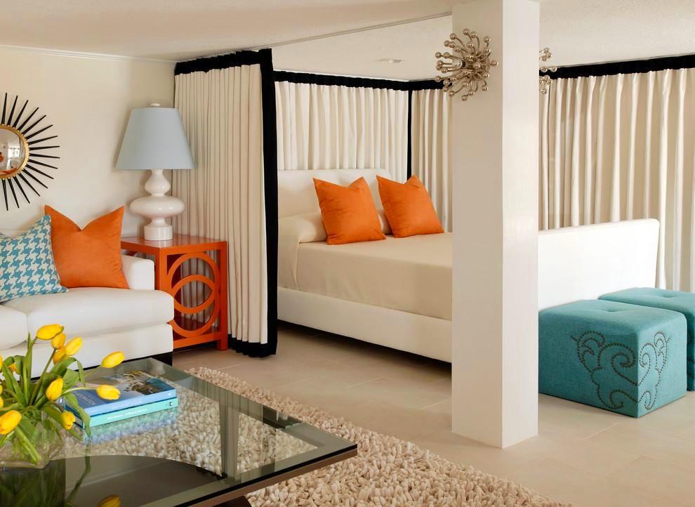 Гостиная, холл в цветах: серый, светло-серый, белый, бежевый. Гостиная, холл в стиле эклектика.