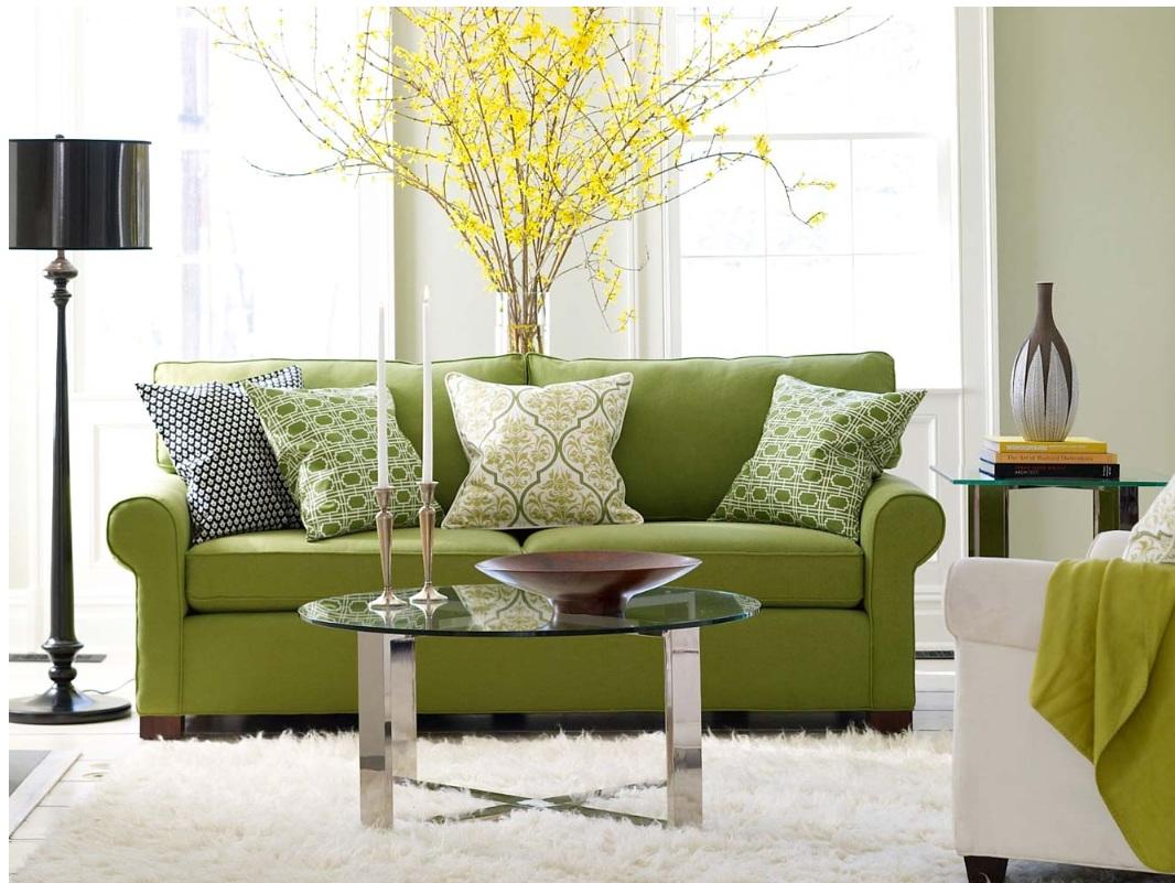 Декор в цветах: зеленый, светло-серый, темно-зеленый, бежевый. Декор в стиле эклектика.