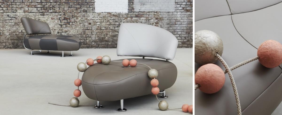 Мебель и предметы интерьера в цветах: черный, серый, светло-серый, коричневый, бежевый. Мебель и предметы интерьера в стилях: поп-арт.