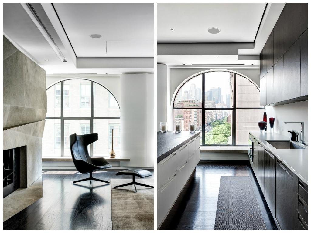 Гостиная, холл в цветах: черный, серый, светло-серый, белый, бежевый. Гостиная, холл в стилях: минимализм, хай-тек.