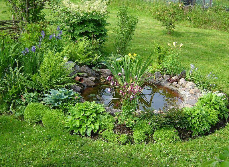 Ландшафт в цветах: темно-зеленый, салатовый, бежевый. Ландшафт в стилях: экологический стиль.