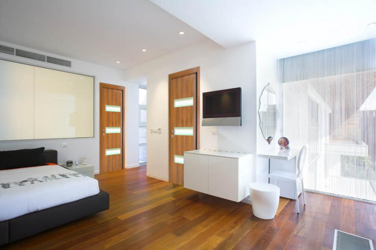 Спальня в цветах: черный, светло-серый, белый, коричневый, бежевый. Спальня в стиле минимализм.