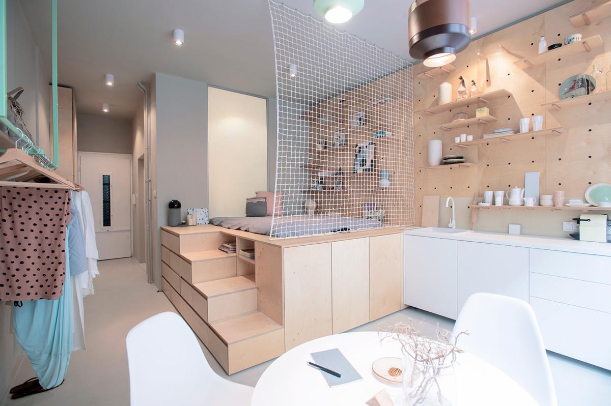 Крошечная идеально организованная квартира, где использован каждый сантиметр