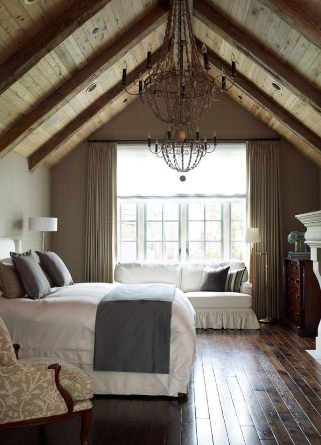 Спальня в  цветах:   Бежевый, Светло-серый, Серый, Темно-коричневый, Черный.  Спальня в  стиле:   Кантри.