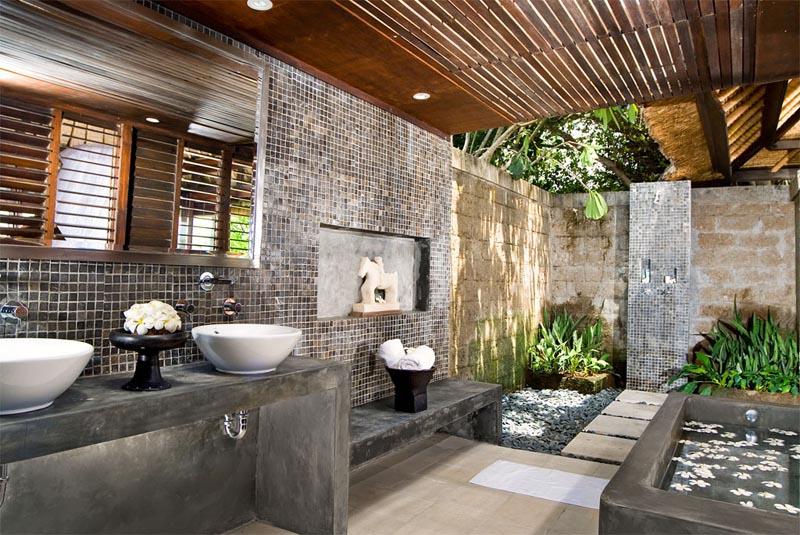 Ванная в  цветах:   Бежевый, Коричневый, Светло-серый, Серый, Темно-коричневый.  Ванная в  стиле:   Восточные стили.
